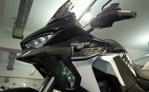 """Kawasaki Sporttourer Vergleichstest Bild 17 Die Versys 1000 SE entspricht dem Bild eines """"klassischen Sporttourers""""."""