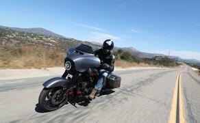 Harley-Davidson Touring 2020 - Testfahrt in Kalifornien Bild 3 Eines der 3 CVO Modelle für 2020: Die CVO Street Glide.
