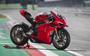 Ducati Panigale V4 2020 Bild 7 Von der V4 R gibt es noch das steifere Front-Frame um das Feedbackl vom Vorderrad zu verbessern.