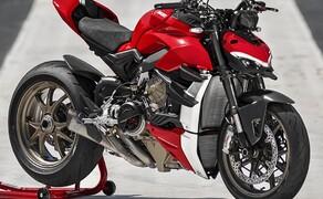 Ducati Streetfighter V4 2020 Bild 5 Die minimalistischen Verkleindungsteile und die geduckte Form der Streetfighter soll an ein lauerndes, sprungbereites Raubtier erinnern.