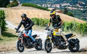 """Ducati Motorradneuheiten 2020 Bild 13 Bei der erfolgreichen Scrambler-Modellreihe ist es wenig verwunderlich, dass diese auch 2020 weitergeführt wird. neben den schon bekannten Modellen wie Full Throttle, Cafe Racer und Desert Sled kommt auch eine neue Ducati Scrambler 800 Icon Dark. Diese richtet sich eindeutig an die Customizer-Szene. Felgen, Blinker und mehr sind bewusst schlicht und einfach gehalten, da sie sowieso als erstes ausgetauscht werden. Äußerlich vielleicht etwas zurückgehaltener, innerlich doch genauso üppig ausgestattet wie ihre Schwestern. Wie genau diese Austattung aussieht, erfahrt ihr in unserem Bericht zu den <a href=""""https://www.1000ps.at/modellnews-3006118-ducati-scrambler-800-2020-neue-icon-dark-als-einstieg"""">Ducati Scrambler 800 2020 Modellen</a>."""