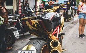 Goldene Ducati Diavel StreetFind der Woche Bild 5