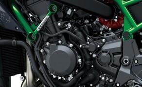 "Kawasaki Neuheiten 2020  Bild 3 Ein kleines aber feines Detail in rot macht den Unterschied. Power durch Zwangsbeatmung  <a href=""/modellnews-3006111-kawasaki-z-h2-2020-daten-fakten-video"">an der Kawasaki Z H2 </a>"