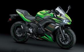 """Kawasaki Neuheiten 2020  Bild 12 Die Ninja 650 wurde ins Jahr 2020 geholt Connectivity und Euro 5 inklusive.<a href=""""/modellnews-3006067-kawasaki-ninja-650-2020"""">Hier gehts zum Kawasaki Ninja 650 Bericht</a>"""