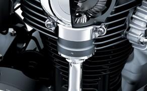 """Kawasaki Neuheiten 2020  Bild 16 Nach wie vor das Prunkstück der W800 - die Königswelle am jetzt verchromten Motorblock. <a href=""""/modellnews-3006110-kawasaki-w800-2020"""">Hier gehts zum Kawasaki W 800 Bericht</a>"""