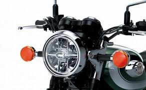 "Kawasaki Neuheiten 2020  Bild 17 Moderne Leuchtmittel in klassischen Formen. <a href=""/modellnews-3006110-kawasaki-w800-2020"">Hier gehts zum Kawasaki W 800 Bericht</a>"