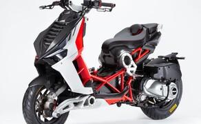 Italjet Dragster 125 und Dragster 200 2020 Bild 2 Der Italjet Dragster ist der einzige Motorroller mit Gitterrohrrahmen und Achsschenkellenkung.