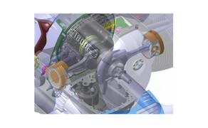 BMW R18 Motor Bild 15 Die Pleuel mit I-Schaft sind  aus Vergütungsstahl geschmiedet. Sie tragen aus Aluminium gegossene Kolben mit zwei Kompressionsringen und einem Ölabstreifring auf. Die Außenhaut der Zylinder ist mit einer NiCaSil-Beschichtung versehen.