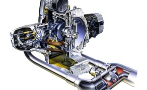 Die BMW R 1200 C – Rückblick auf den Boxer-Cruiser Bild 5 Der Vierventil-Boxer der R 1200 C. 61 PS bei 5.000 Umdrehungen und 98 Nm bei 3.000