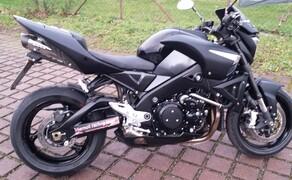 Folierungen/Motorrad Bild 10 B-King komplett mit Carbonfolie bezogen