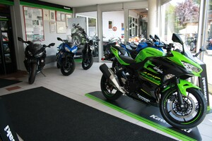 Eingangsbereich mit Kawasaki