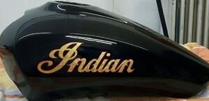 Indian Logo in echt Blattgold und Handliniert