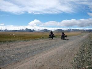 Fahraufnahme im Altai
