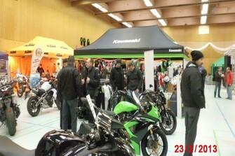 Ducati und Kawasaki auf der Faszination 2Rad in Haibach 23.02.2013