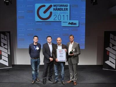 Beste Platzierung Motorradhändler 2011 Award anzeigen