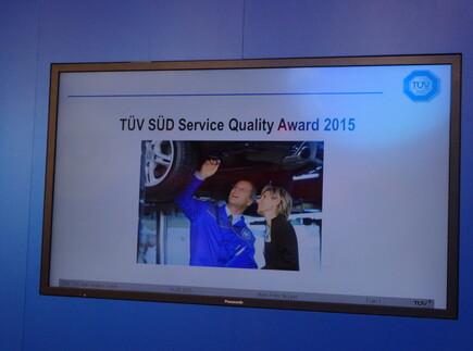 TUEV Award 2015