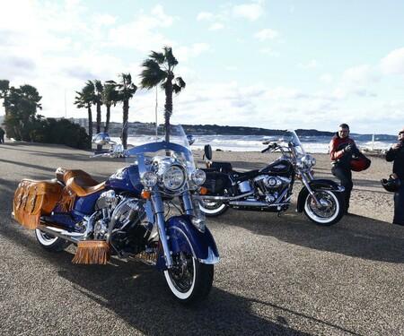 Vergleichstest Harley Davidson Heritage Softail Classic und Indian Chief Vintage