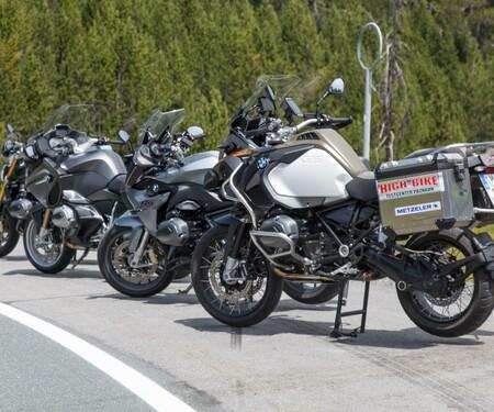 BMW Boxer-Modelle Vergleich in den Alpen 2015