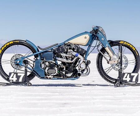 Harley Turbo Salt Racer Umbau von Lucky Custom