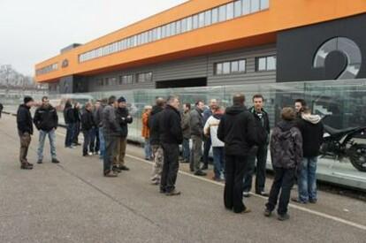 KTM Wimmer bei KTM Werksbesichtigung