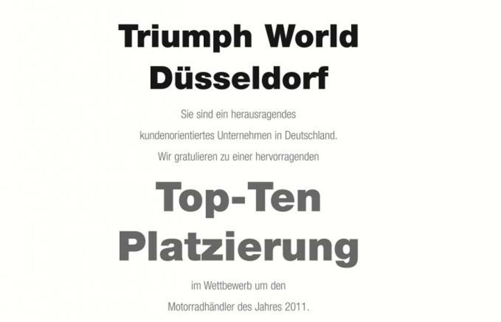 Beste Platzierung Motorradhändler 2011 Award