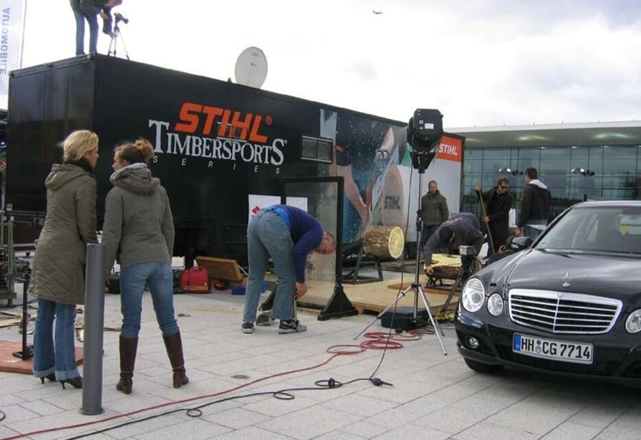 Dreharbeiten für die PRO7 Sendung Galileo